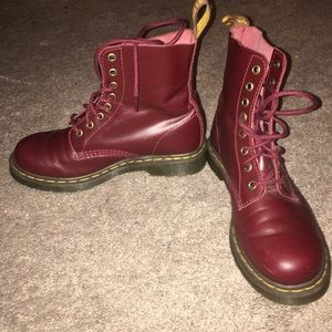 Doc Martens Pascal 8-Eye Boots, Size 8